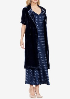 Vince Camuto Velvet Short-Sleeve Trench Coat