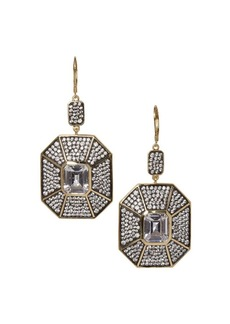 Vince Camuto Vintage Stones Two-Tone & Crystal Double Drop Earrings