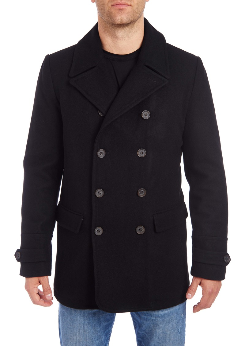 Vince Camuto Water Resistant Wool Blend Peacoat