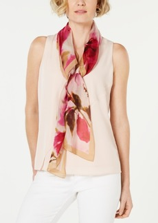 Vince Camuto Watercolor Flowers Silk Square Scarf