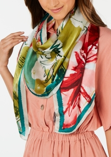 Vince Camuto Waterpastel Floral Silk Oblong Scarf