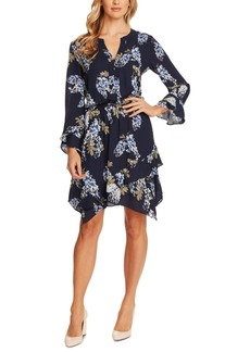 Vince Camuto Weeping Willows Printed Ruffled Dress