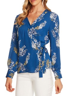 Vince Camuto Weeping Willows Wrap Blouse