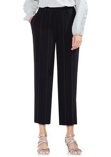 Vince Camuto Wide Chalk Stripe Crop Pants