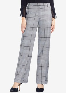 Vince Camuto Wide-Leg Glen-Plaid Pants