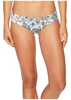 Vince Camuto Wildflower Shirred Smooth Fit Cheeky Bikini Bottoms
