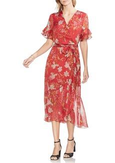 Vince Camuto Wildflower Tiered Ruffle Chiffon Dress