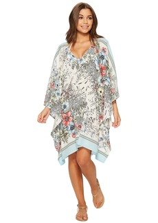Vince Camuto Wildflower V-Neck Caftan Cover-Up