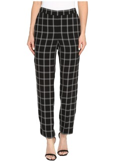 Vince Camuto Windowpane Soft Pull-On Slim Leg Pants