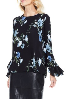 Vince Camuto Windswept Bouquet Bell Sleeve Blouse (Regular & Petite)