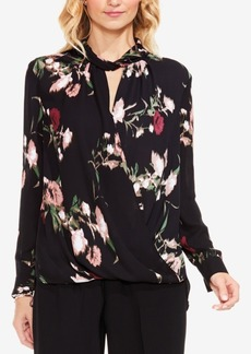 Vince Camuto Windswept Bouquet Printed Wrap Top