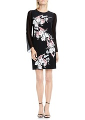 Vince Camuto Winter Garland Print Shift Dress