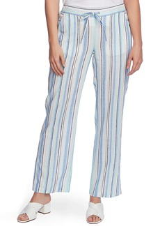 Vince Camuto Wistful Stripe Linen & Cotton Blend Drawstring Pants