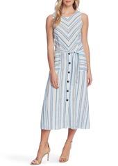Vince Camuto Wistful Stripe Sleeveless A-Line Midi Dress