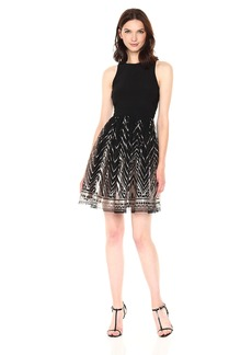 Vince Camuto Women's 2 fer Fit and Flare Dress