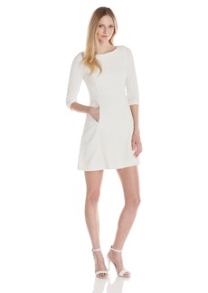 Vince Camuto Women's 3/4 Sleeve Fit and Flare Dress