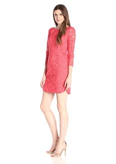 Vince Camuto Women's 3/4 Sleeve Lace Sheath Dress