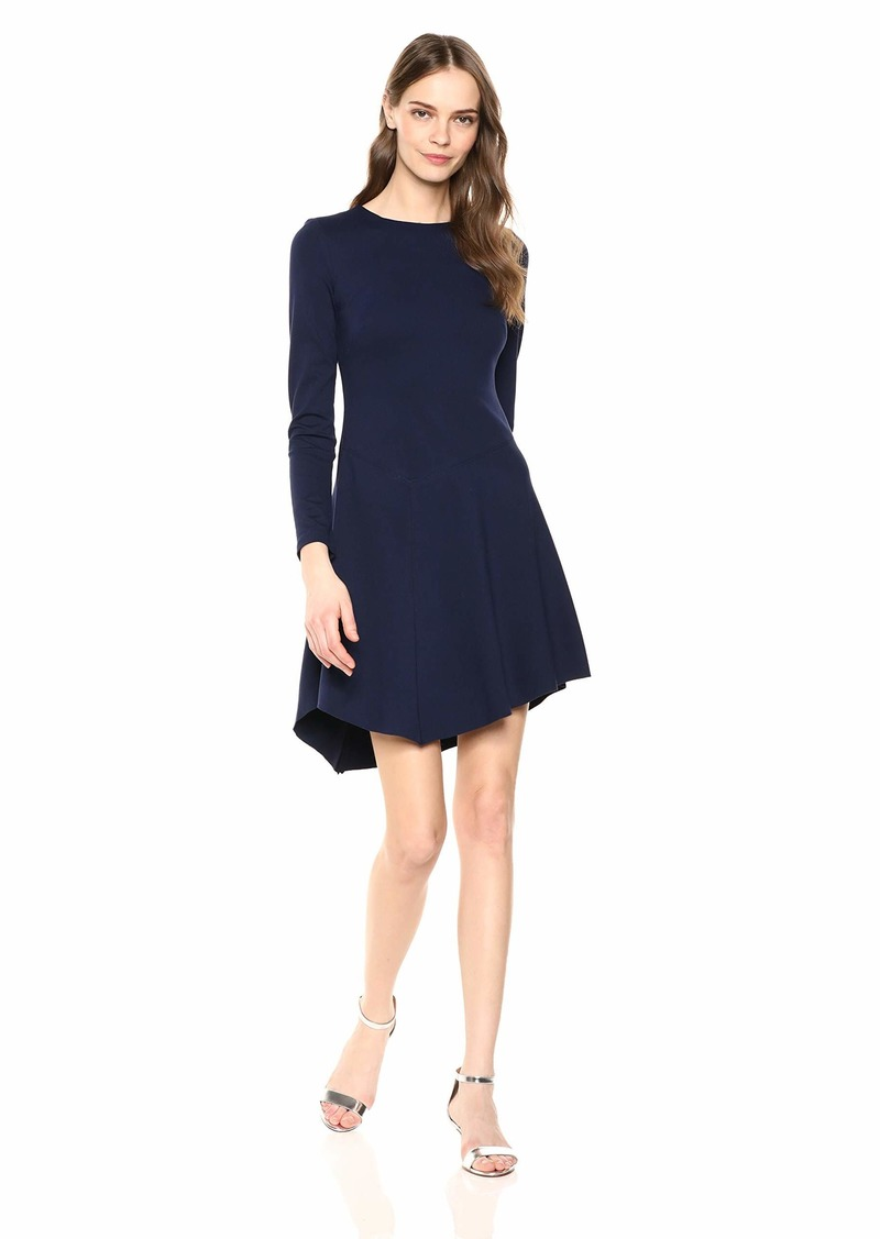 Vince Camuto Women's A-Line Dress with Asymmetrical Hem