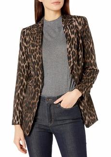 Vince Camuto Women's Animal Phrases One Button Blazer