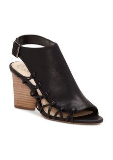 VINCE CAMUTO Women's Ankara Leather Knot Detail High Heel Sandals