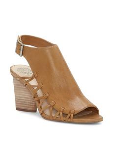 VINCE CAMUTO Women's Ankara Leather Knot Detail High-Heel Sandals