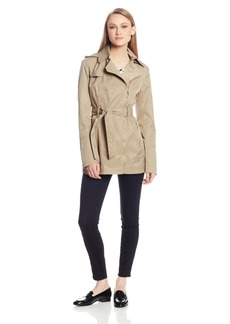 Vince Camuto Women's Asymmetrical Zip Belted Trench Coat