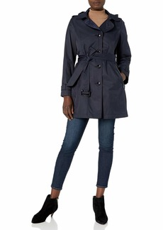 Vince Camuto Women's Belted Trench with Hood  L