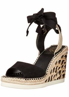 Vince Camuto Women's Bendsen Ankle Wrap Sandal Espadrille Wedge