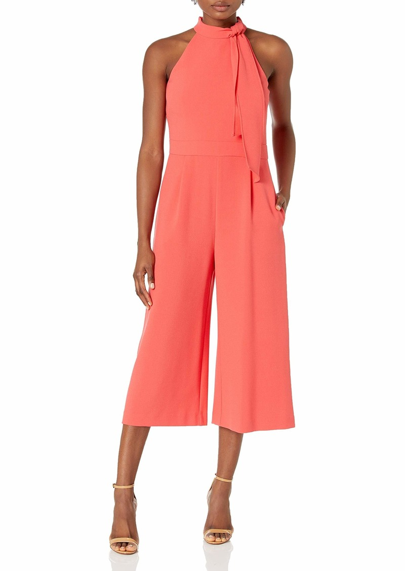 Vince Camuto Women's Bow Neck Halter Cropped Jumpsuit