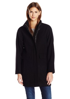 Vince Camuto Women's Boyfriend Cocoon Wool Coat  X-Large
