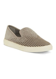 VINCE CAMUTO Women's Bristie Woven & Perforated Slip-On Sneakers