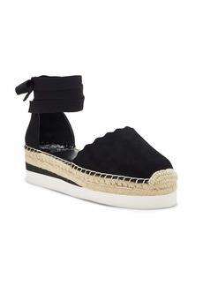Vince Camuto Women's Brittie Ankle wrap Sandal Flat