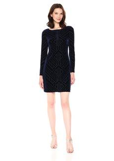 Vince Camuto Women's Burnout Tbody Dress