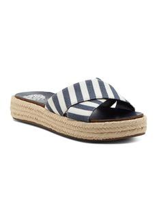 VINCE CAMUTO Women's Carran Platform Espadrille Slide Sandals