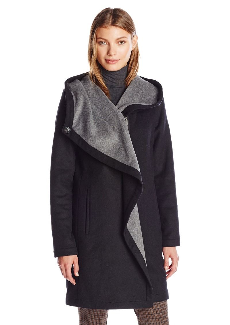 Vince Camuto Women's Cascading Wool Coat  S