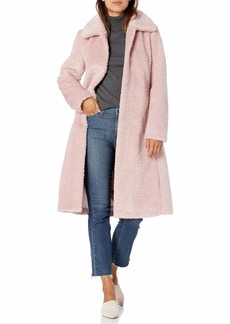Vince Camuto Women's Chic and Warm Faux Belted Long Coat  S