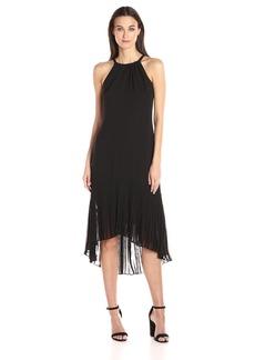 Vince Camuto Women's Chiffon Halter Pleat Dress