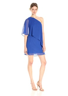 VINCE CAMUTO Women's Chiffon One Shoulder Float Dress