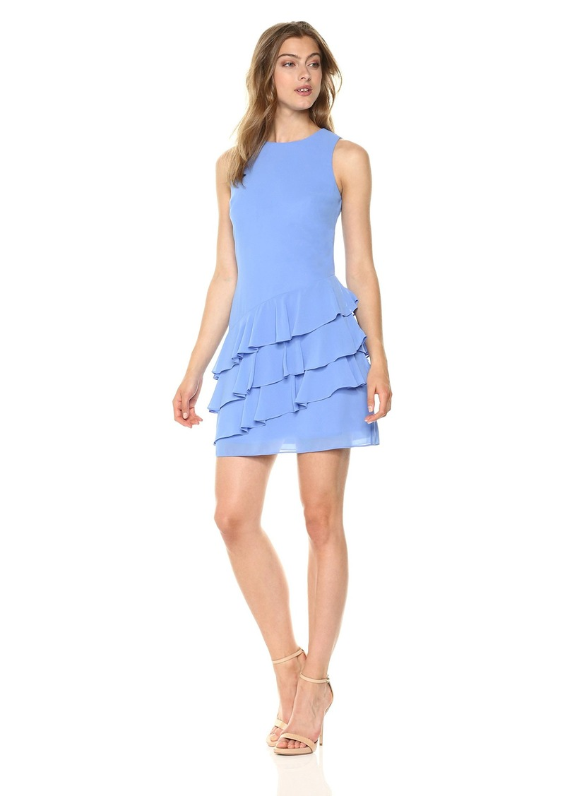 Vince Camuto Women's Chiffon Ruffle Shift Dress