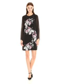 Vince Camuto Women's Chiffon Sleeve Winter Gerland Dress