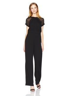 Vince Camuto Women's Chiffon Sleeves Jumpsuit