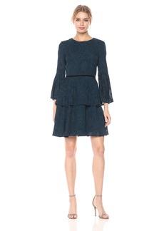 Vince Camuto Women's Chiffon Tiered Skirt Dress