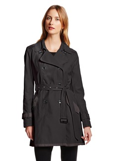 VINCE CAMUTO Women's Classic Double-Breasted Belted Trench Coat
