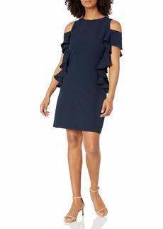 Vince Camuto Women's Cold Shoulder Shift Dress