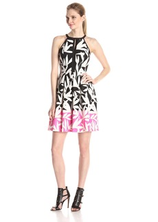 Vince Camuto Women's Color Block Fit and Flare Dress