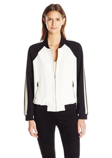 Vince Camuto Women's Colorblocked Bomber Jacket  M