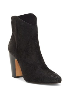VINCE CAMUTO Women's Creestal Round Toe Suede High-Heel Booties