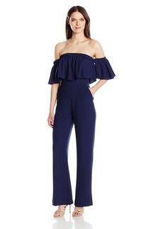 Vince Camuto Women's Crepe Off The Shoulder Jumpsuit