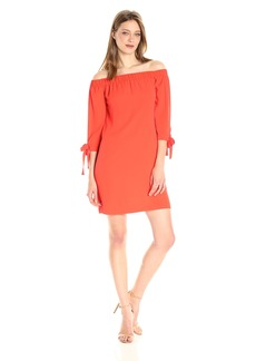 Vince Camuto Women's Crepe Off the Shoulder Shift Dress