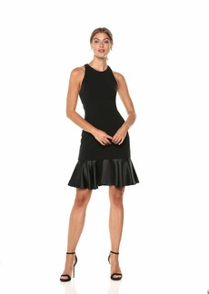 VINCE CAMUTO Women's Crepe Sleeveless Cocktail Dress